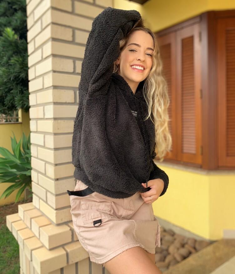 Moletom Teddy Preto Visual Jeans  - Choque Concept