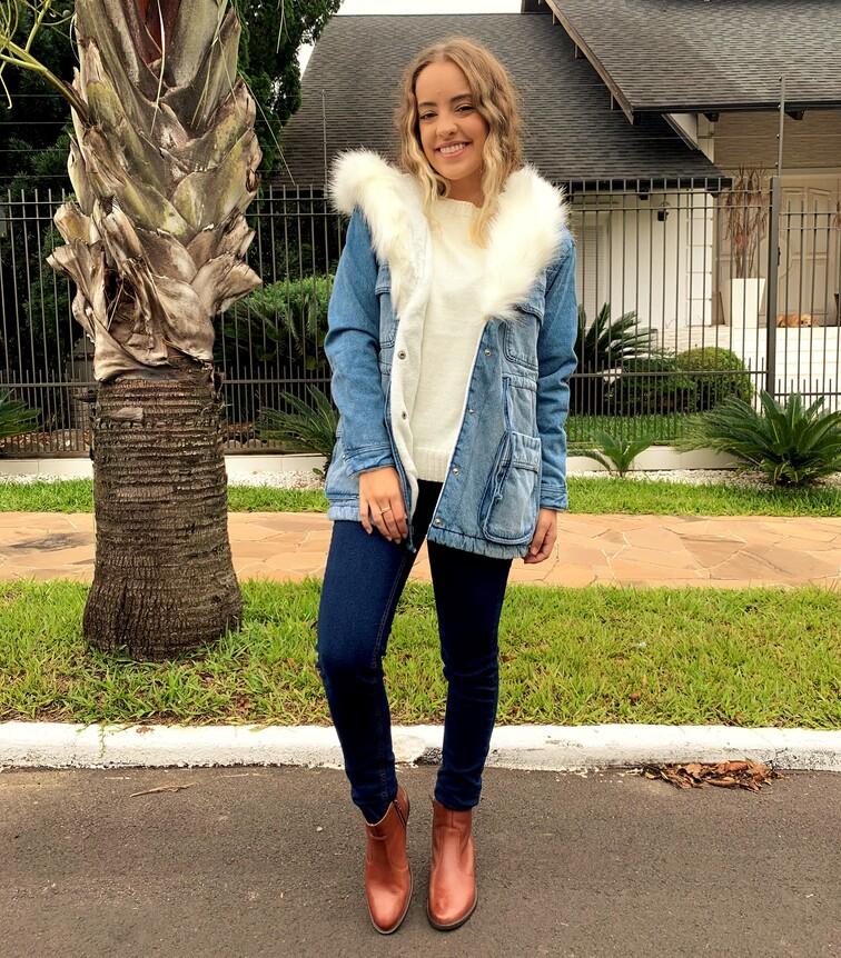 Parka Jeans com pelinho Visual Jeans  - Choque Concept