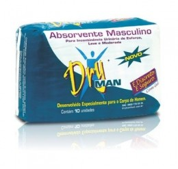 ABSORVENTE MASCULINO DRY MAN PACOTE C/10 ABSORVENTES