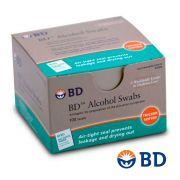 Álcool Swabs Para Assepsia Isopropílico 70% C/ 100 Un. BD