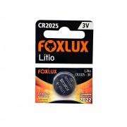 Bateria CR2025 3V Lítio c/1 Unidade FOXLUX