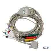 Cabo ECG Paciente 10 vias Tipo BANANA para Eletrocardiógrafo Bionet