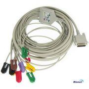 Cabo ECG Paciente 10 vias Tipo GARRA para Eletrocardiógrafo Bionet