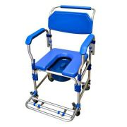 Cadeira de Banho D60 Alumínio com Assento Estofado e Coletor DELLAMED