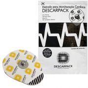 Eletrodo ECG Monitoração Cardíaca PCT C/ 50 Un. Descarpack