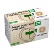 Escalpe SCALP 21G Lock Caixa c/ 100 Un. Descarpack