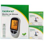 Kit Medidor De Glicose G-500 Combo Promocional Bioland