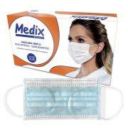 Máscara Cirúrgica Tripla com Elástico Caixa C/ 50 Un. Medix