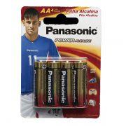Pilha Alcalina Pequena AA C/ 4 Un. Panasonic