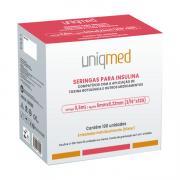 Seringa Insulina/Botox 0,5mL 50UI ag. 5x0,23mm 32G C/100un UNIQMED