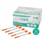 Seringa Insulina 1mL 100UI agulha 6x0,25mm 31G - CAIXA C/100 UN. UNIQMED