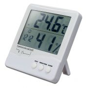 Termo-Higrômetro Digital INT/EXT C/ Relógio 7663 Incoterm