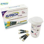 Tiras P/ Medição De Glicose C/ 50 Un. FREE1 G-Tech