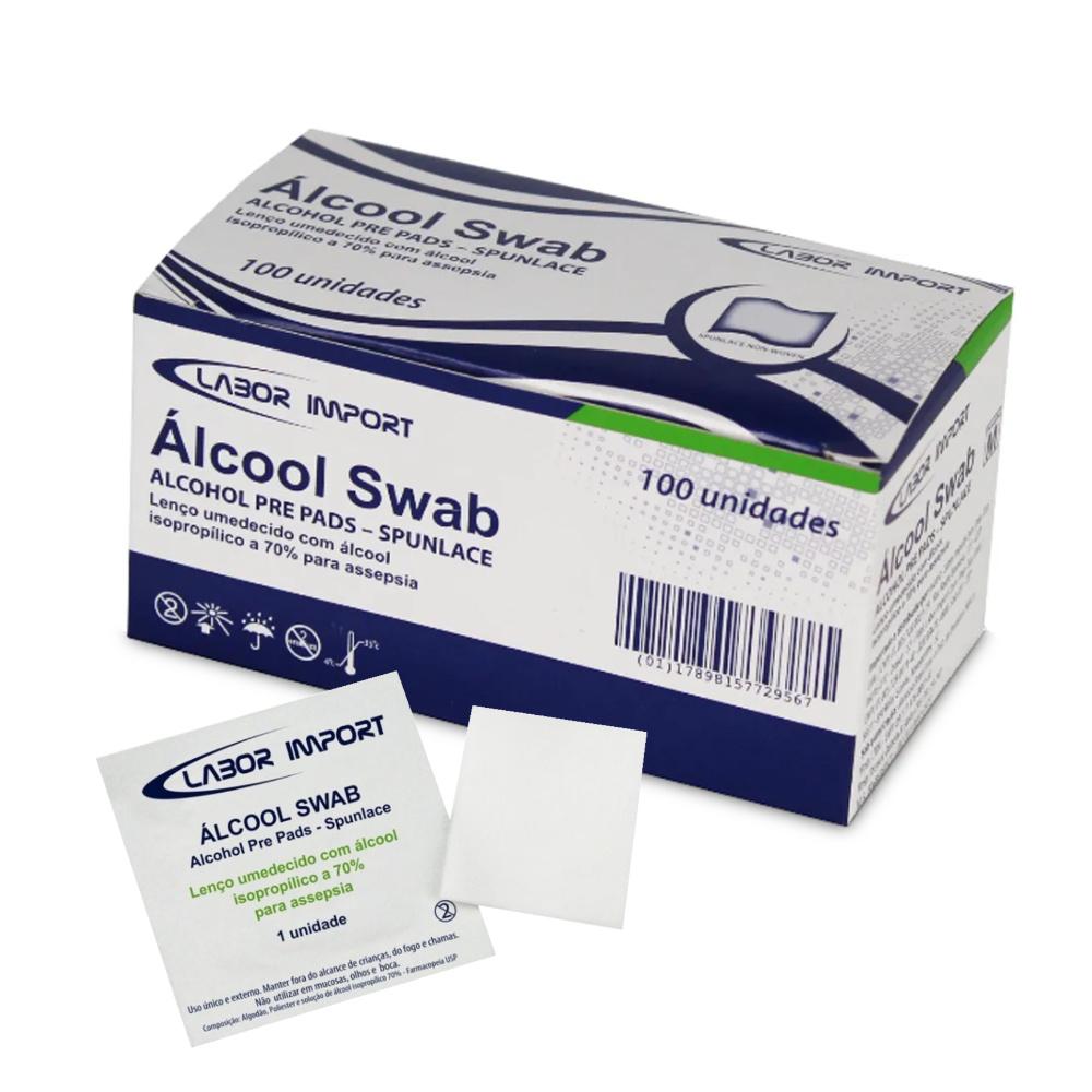 Álcool Swab C/ 100 Un. LABOR IMPORT