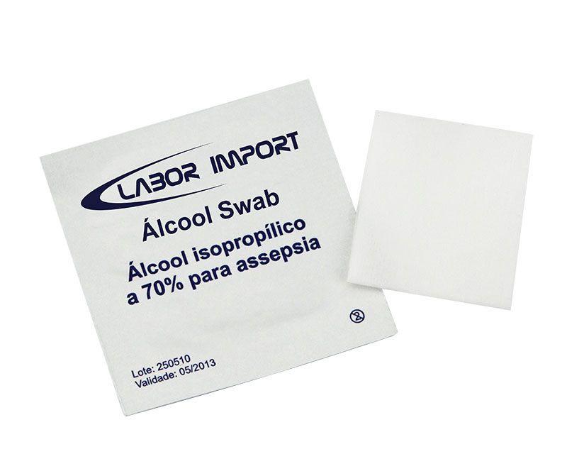 Álcool Swab C/ 200 Un. LABOR IMPORT