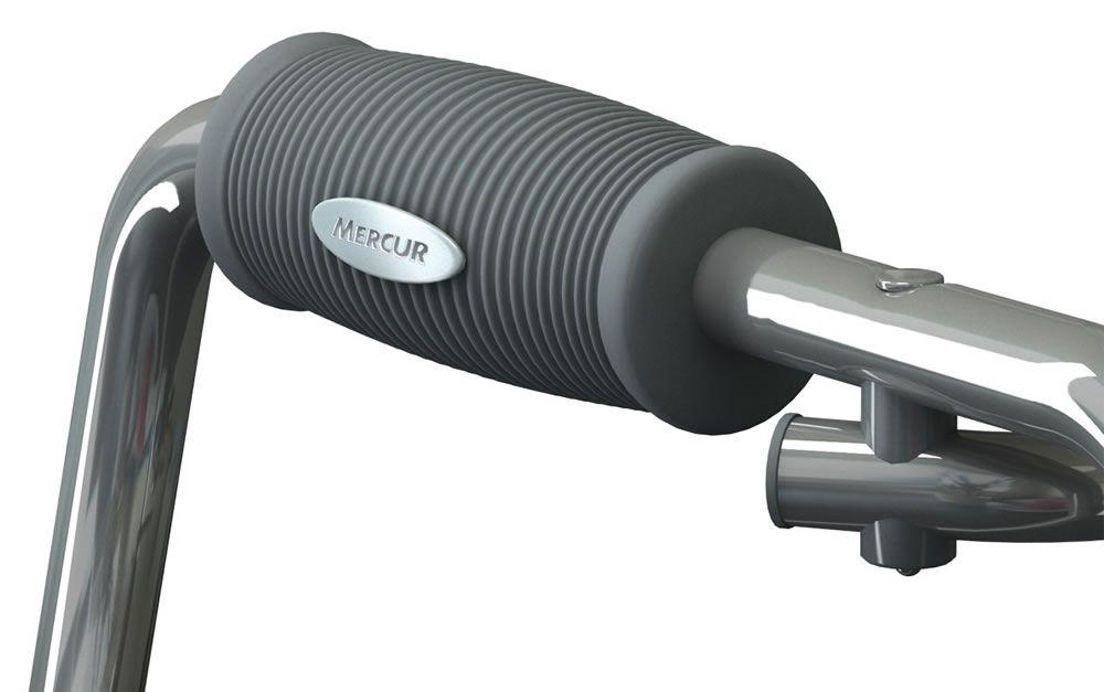 Andador Alumínio Fixo Dobrável Com RODAS Prata - BC1520 - Mercur