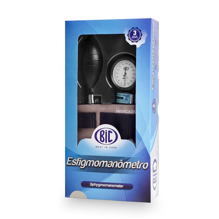 Aparelho de pressão Adulto Brim Velcro Cinza AP0114 BIC