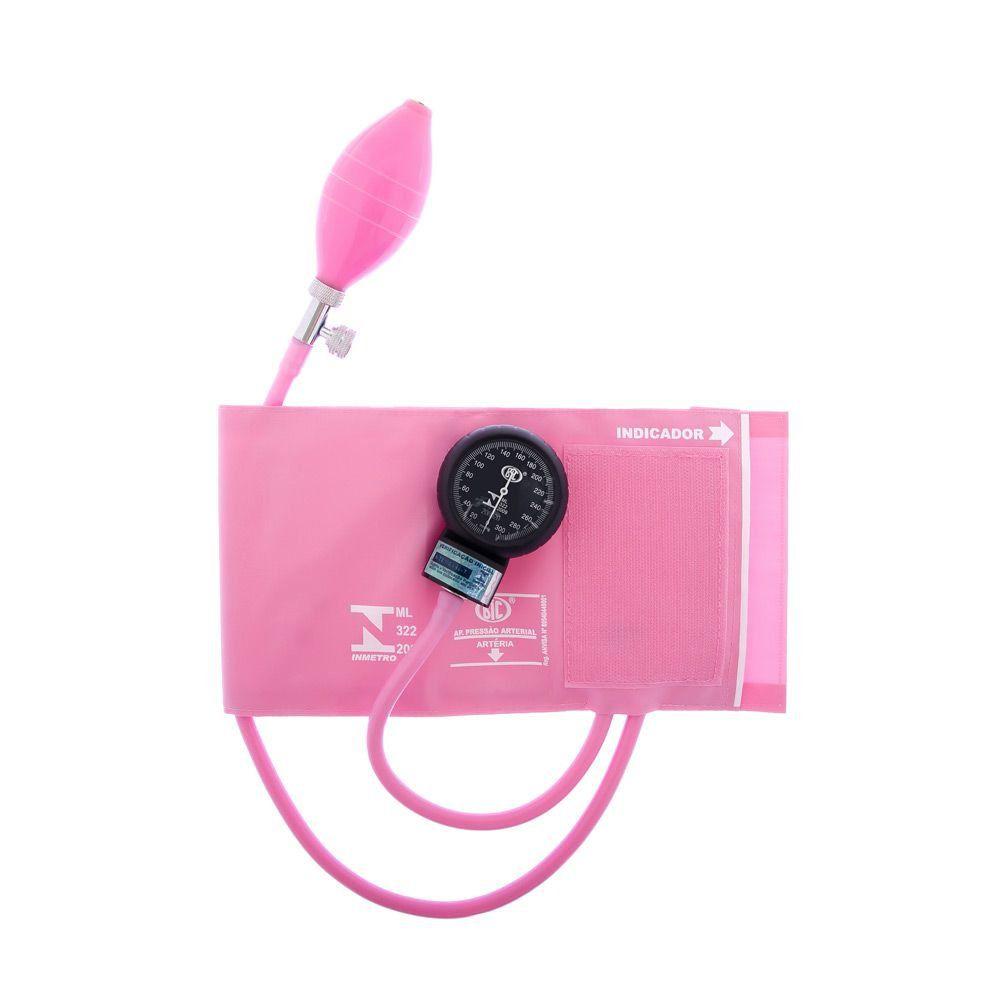 Aparelho de Pressão Adulto Nylon Velcro Rosa AP0331 BIC