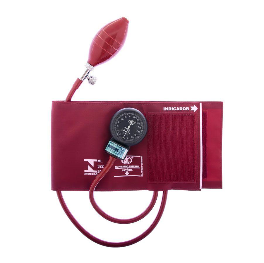 Aparelho de Pressão Adulto Nylon Velcro Vinho AP0335 BIC