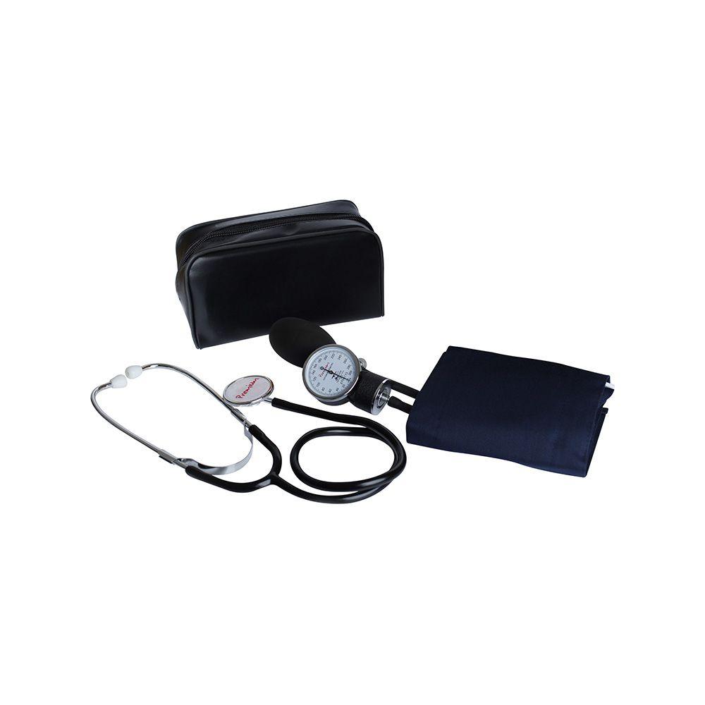 Aparelho De Pressão Adulto Velcro Com Estetoscópio Premium