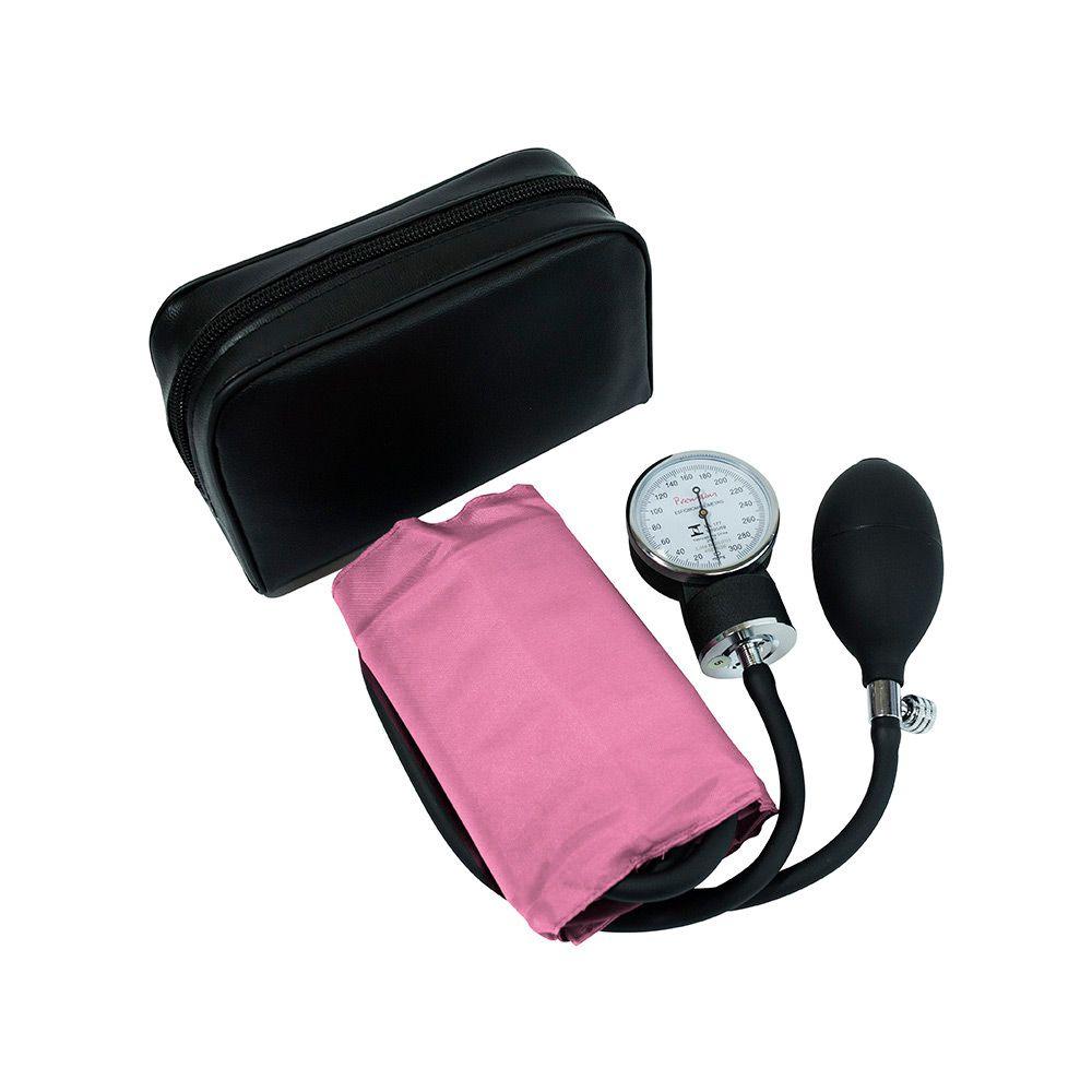 Aparelho de Pressão Adulto Velcro Rosa Premium
