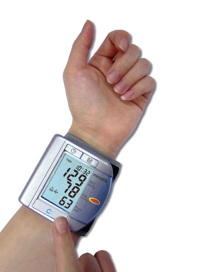 Aparelho De Pressão Automático De Pulso Prata BPW100 Microlife