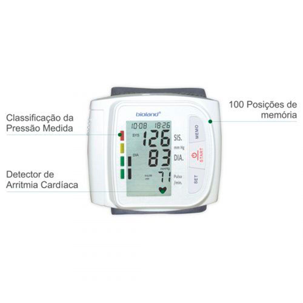 APARELHO DE PRESSÃO DIGITAL DE PULSO MOD.3005 BIOLAND