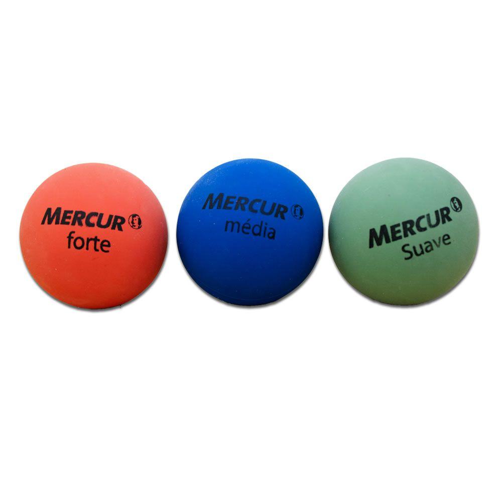 Bola Fisiobol CX C/ 3 Bolas (Verde, Azul e Vermelha) Mercur