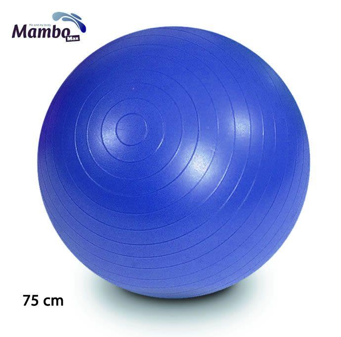 BOLA PARA EXERCÍCIOS GYM BALL 75 CM AZUL COM BOMBA MAMBO MAX