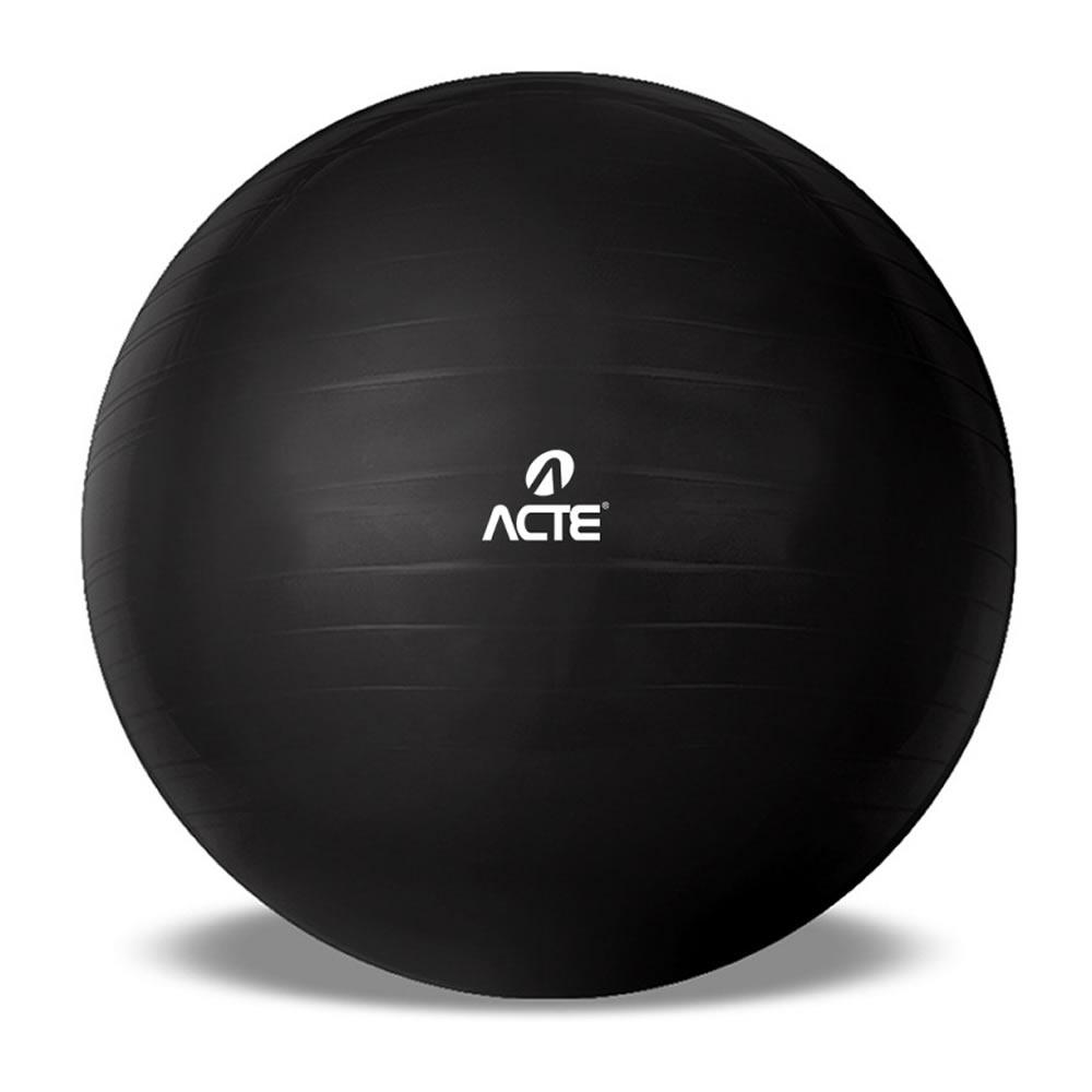 Bola Suíça Gym Ball 65cm Preta Acte