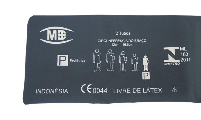 Braçadeira 2 tubos Pediátrica Livre de látex MD
