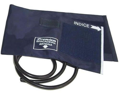 Braçadeira Adulto Nylon Velcro 18 a 35cm Azul Marinho Premium