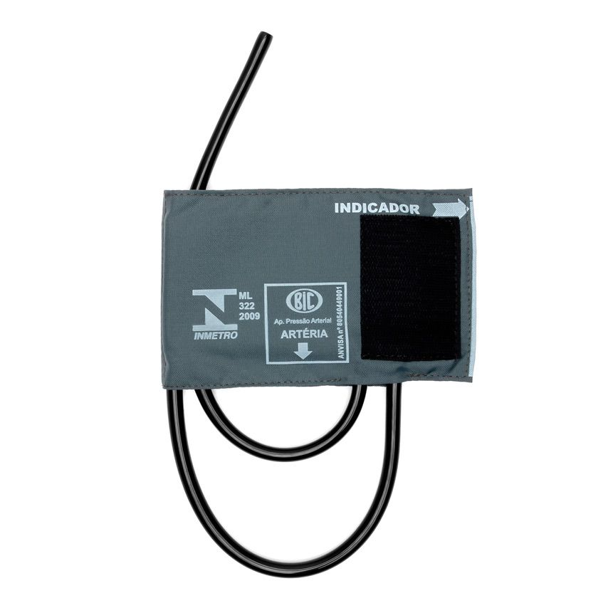 Braçadeira Infantil Velcro Nylon BR2802Q Cinza BIC