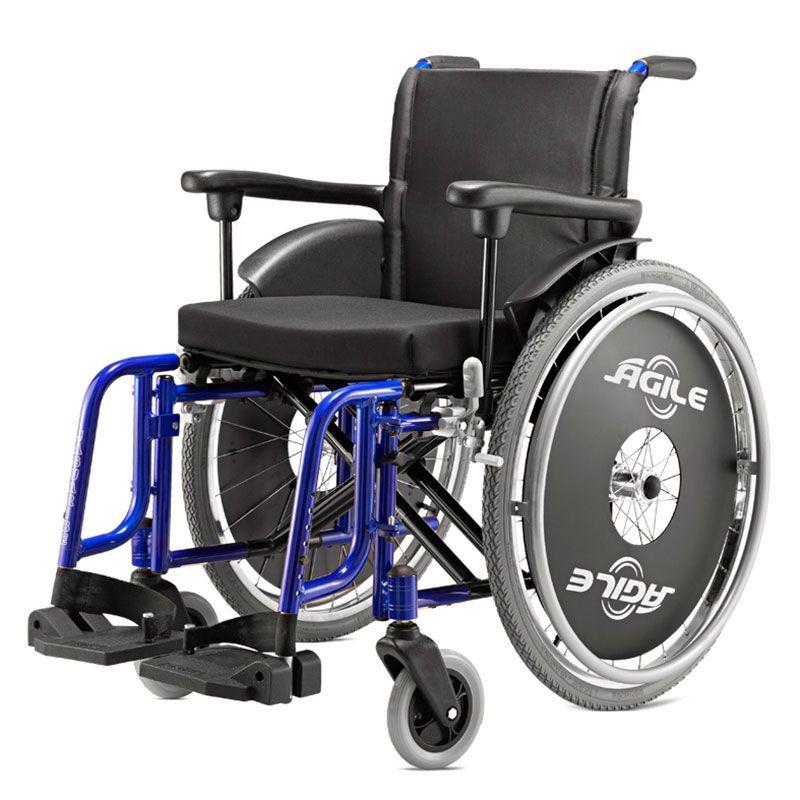 Cadeira De Rodas Ágile 42 Azul Metálico Jaguaribe