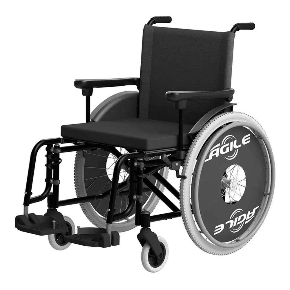 Cadeira De Rodas Ágile 48 Preta Jaguaribe