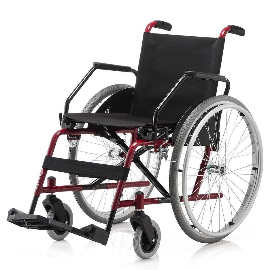 Cadeira de Rodas Cantu  42cm Vinho Jaguaribe