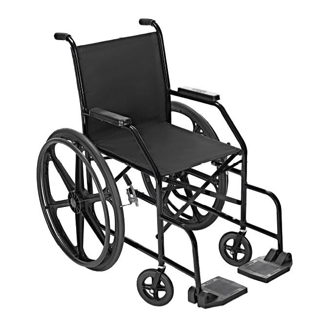 Cadeira de Rodas Simples PL001 40cm Pneu Maciço Prolife