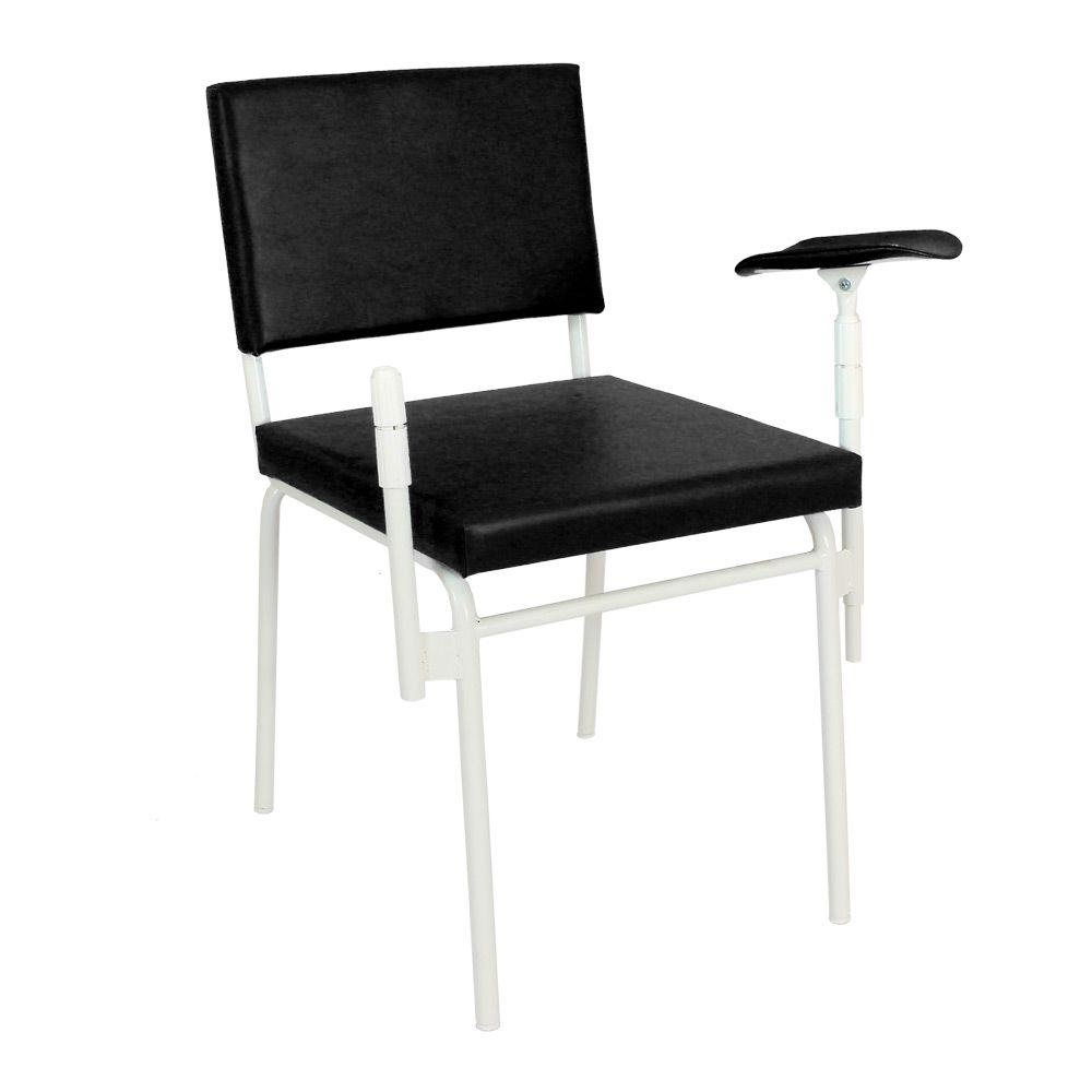 Cadeira P/ Coleta De Sangue Max Preta Marcos Móveis