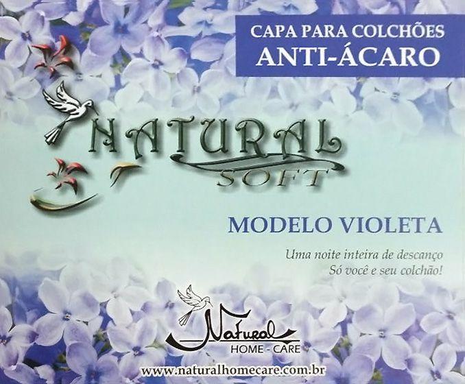 Capa Para Colchão Anti-ácaro Solteiro Violeta NHC