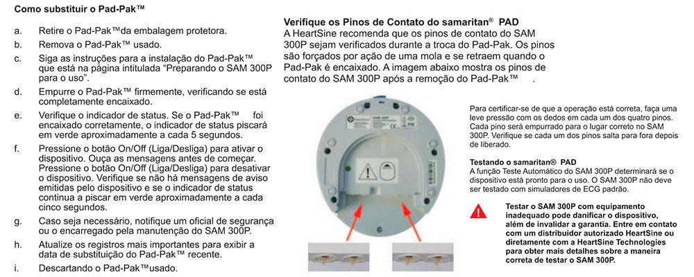 Cartucho Eletrodos C/ Bateria Adulto Samaritan PadPak Heartsine