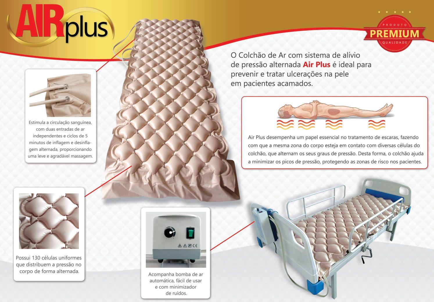 Colchão De Pressão Alternada AirPlus 220V Completo Dellamed