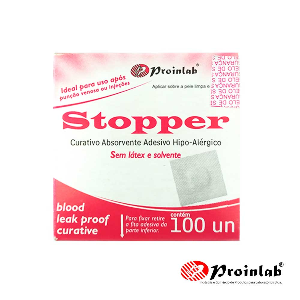 Curativo Stopper Hipoalergênico Branco CX C/ 100 Un. Proinlab