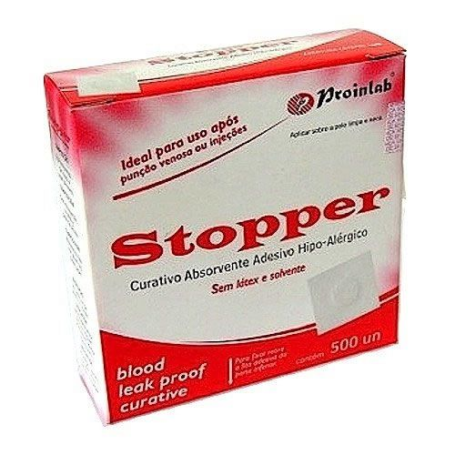 Curativo Stopper Hipoalergênico Branco CX C/ 500 Un. Proinlab