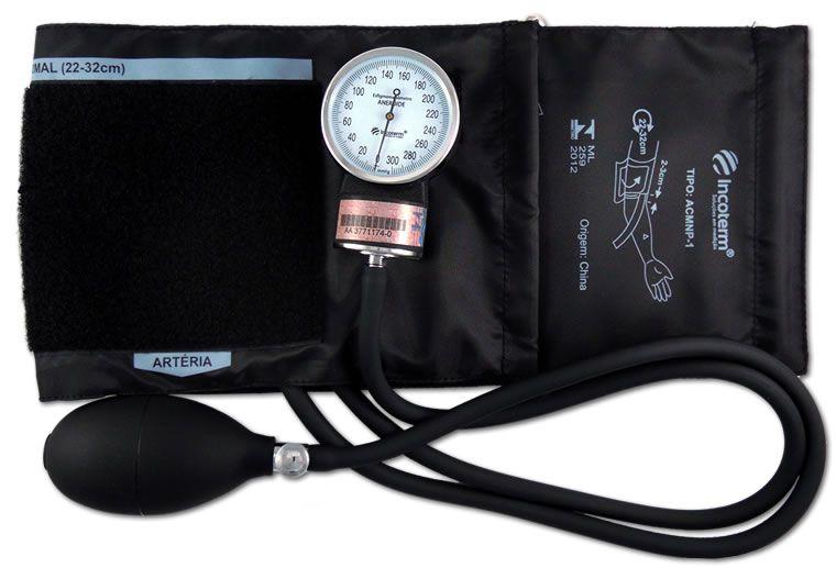 Esfigmomanômetro Aneróide EA100 Preto INCOTERM