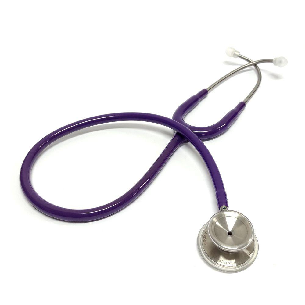 Estetoscópio Aço Inox Duplo MD One Purple MDF