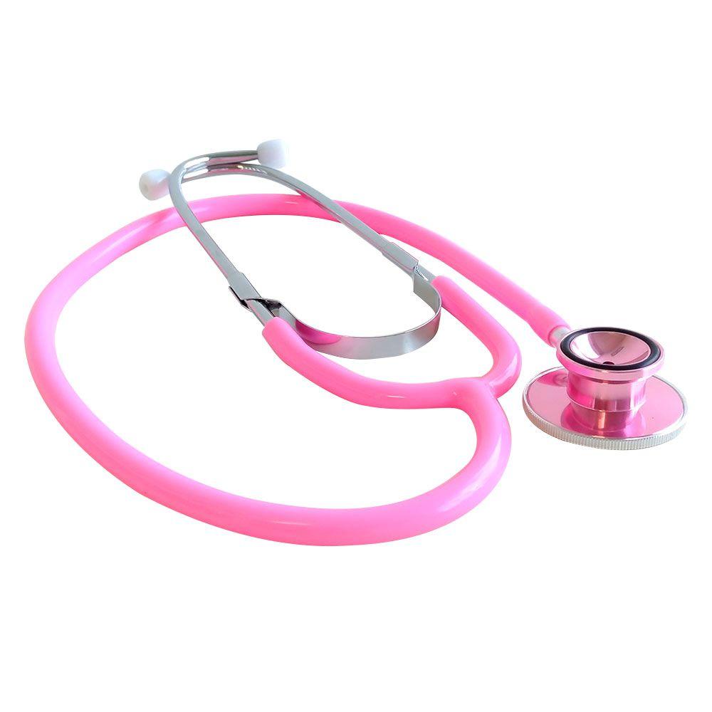Estetoscópio Duplo Colorido Rosa E100D Bioland