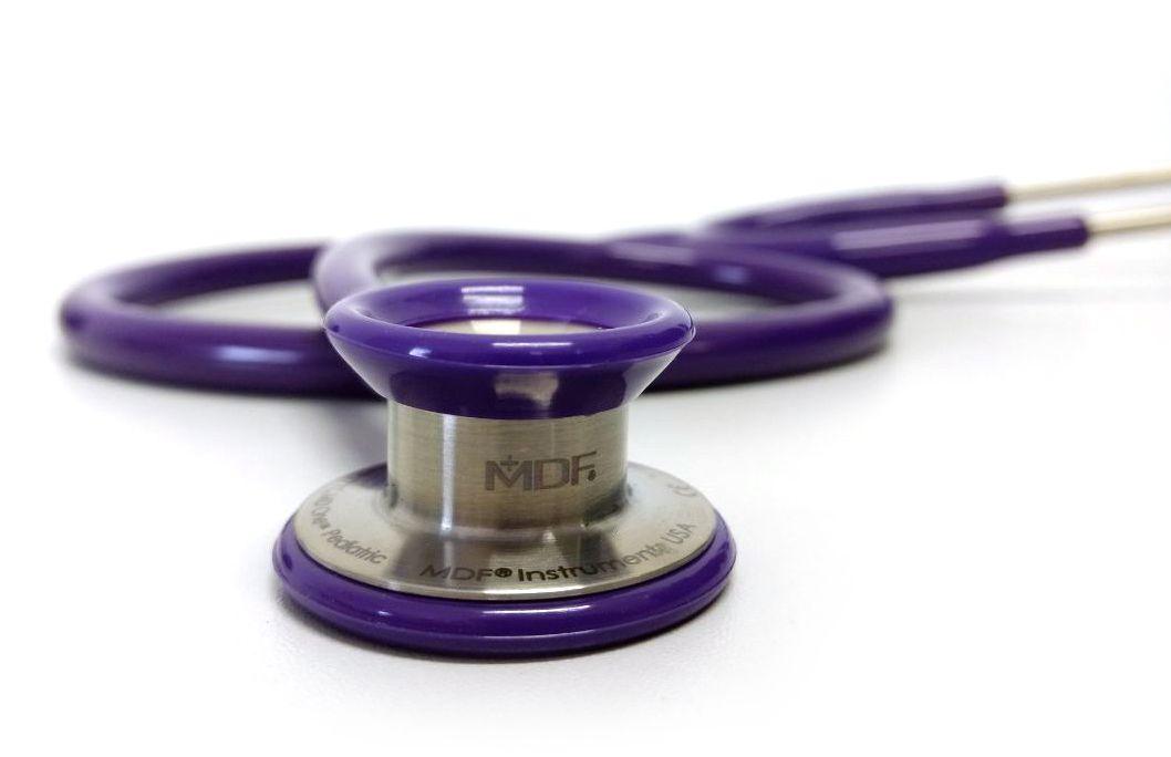 Estetoscópio Pediátrico Aço Ínox Duplo MD One Purple MDF