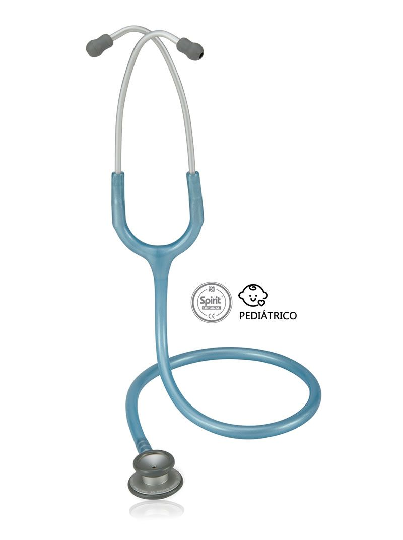 Estetoscópio Pediátrico Pro-lite Azul Claro Perolizado Spirit