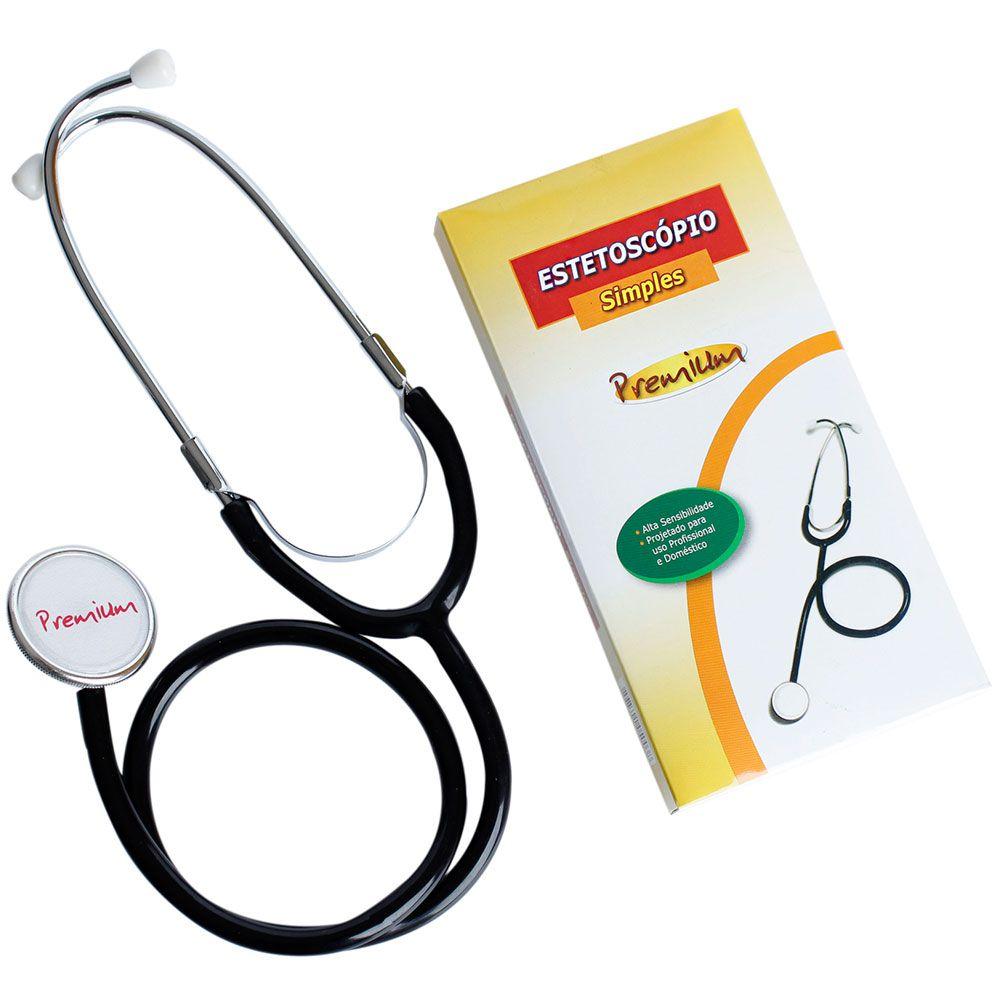 Estetoscópio Simples Adulto Premium