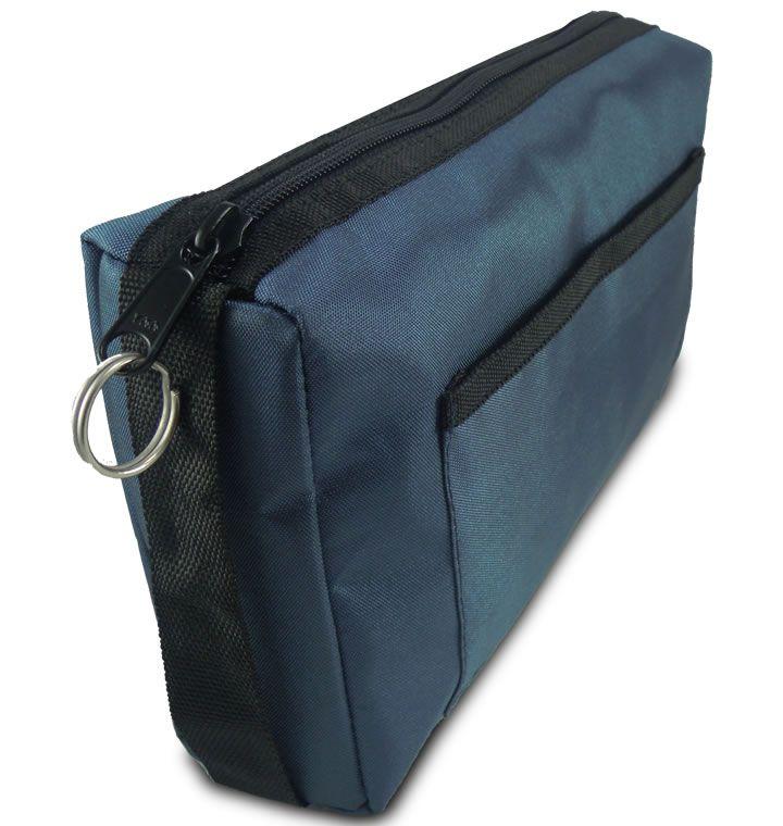 Estojo de nylon com zíper Azul Marinho MD